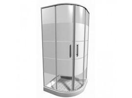 Pusapvalės dušo kabinos